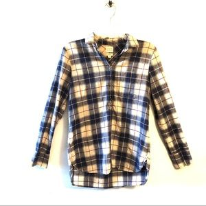 J. Crew Factory Plaid Gauze Shirt In Boy Fit